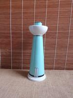 Arzberg - türkiz színű stilizált világítótorony gyertyatartó