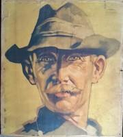 Mácsai István -945- Athenaeum Koloroffset Budapesten készült plakát portré mérete:58cmX66cm
