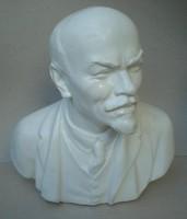 V.I. Lenin mellszobor gipsz.
