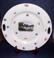 Hévízi emlék tál Victoria porcelán 25,5 cm