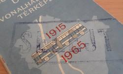 Fővárosi Autóbuszüzem vonalhálózati térképe 1915-1965