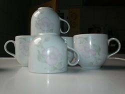 Alföldi vadrózsás porcelán kávés csészék