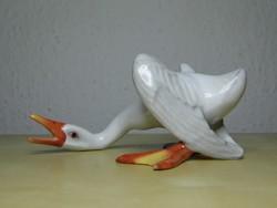 Nagyon ritka gyűjtői herendi porcelán liba figura hibátlan állapotban!