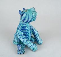 0W487 Morvay Zsuzsa művészi kerámia tigris