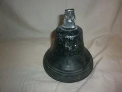 antik nagyméretű ón ötvözet  csengő 13,5 cm