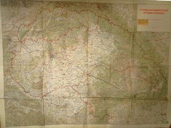""""""" Csonka """" Magyarország áttekintő térképe 1940 méret 117 x 87 cm"""