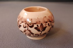 Szemlér Magda virágmintás kerámia váza