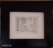 Szignózott Henri Matisse rézkarc