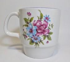 Régi Alföldi porcelán virágos bögre