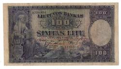 100 litu Litvánia 1928 Ritka 2.