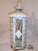 Gyertyatartó - fém - régi - nagy - 48 x 19 x 19 cm - csipkehatású