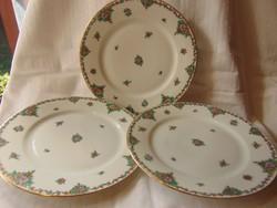 3 db francia limoges 23 cm porcelán tányér - különleges - hibátlan !