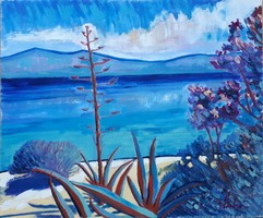 Mediterranean Seascape,  Oil Painting