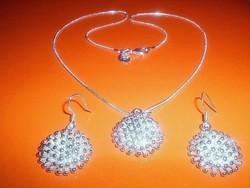 Csillag Gömb 925 ezüst - fehérarany Ékszer Szett
