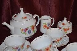 Csoda szép ritka mintás 6 személyes Alföldi teás készlet  ( DBZ 00112 )