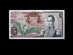 UNC - 5 PESOS - KOLUMBIA - 1979  (Old money)