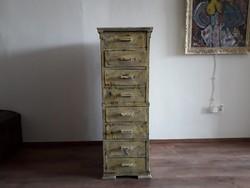 Vintage koptatott irattartó szekrény,loft,vintage,dekor