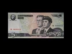 UNC - 5 WON  ÉSZAK-KÓREA - 2009