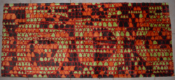 Retro selyem moket faliszőnyeg 02