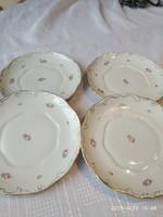 Hollóházi  kézzel festett csodaszép rózsás tányér 4 darab