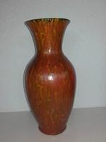 Karda Imre állóváza 35 cm, Tófej keskeny váza 31 cm, kaspó 12 cm; jelzett,