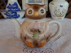 Bagoly forma gyűjtői  teáskanna