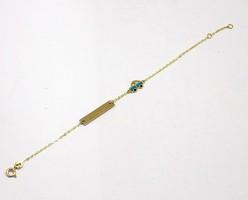 Arany gyerek karkötő (ZAL-Au80638)