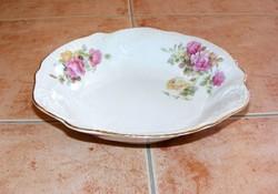 Rózsás porcelán kínáló tál
