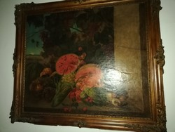 Antik csendélet olaj vászon festmény 19.sz bol