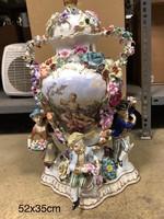 Luigi fabris style Virágos  porcelán váza