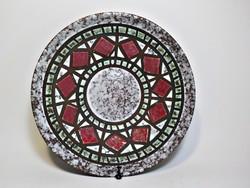 Mozaik mintás  kerámia tál , asztalközép