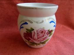Rózsás porcelán emlék bögre