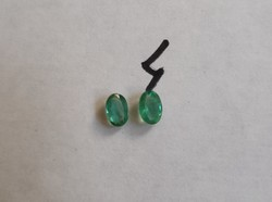 2 db smaragd, egymáshoz illő pár ékszer készítéshez 4#