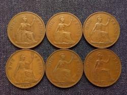 Anglia - VI. György One Penny évszám gyűjtemény/id 7860/