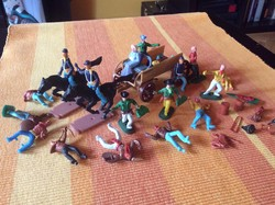 Retró trafikáru játék műanyag katonák indián cowboy western 1