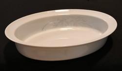 Hollóházi virágmintás porcelán tál - ovális sütő tál - magas peremű