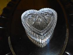 Ajkai kristály ékszertartó -szív alakú