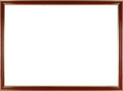 0W831 Piros-arany képkeret 50 x 70 cm