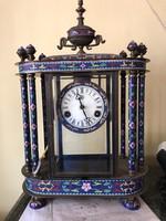 Sorszámos 19.századi Antik Zomàncozott asztali/kandalló óra /komódra