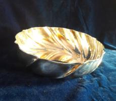 Hatalmas ezüst tál art deco stílusban 436g