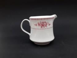 Alföldi Blanka retro porcelán klasszikus rózsaszín virágos tejszínes kiöntő