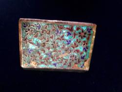Ezüst gyógyszeres szelence gyönyörű zomànc díszitèssel 925-ös