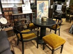 Patikai váró asztal,körasztal,art deco stílusú bútor