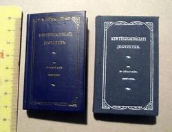 Dr. Jókai Mór: Kertészgazdászati jegyzetek, reprint, 2 db minikönyv (egyik számozott)