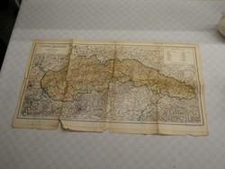 Kogutowicz Manó térkép - A Felvidék közigazgatása