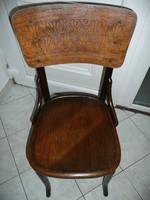 Alul-felül azonos szecessziós mintájú antik Thonet szék stabil, szép állapotban