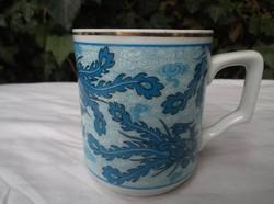 Bögre - jelzett - régi - porcelán - kínai - 3 dl - nincs lepattanás