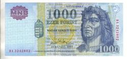 """1000 forint 2002 """"DA"""" UNC 2."""