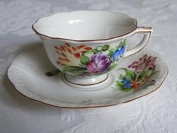 Antik Herendi kávéscsésze alátét tányérral!