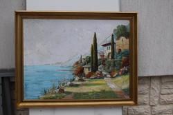 ADRIA! Mediterrán tengeri tájkép kortárs,HANGULATOS ,festmény!